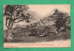 07 Ardeche Saint Peray Ruines De Crussol Au Dos Cachet Du Medeicin  Train Sanitaire Semi Permanent Midi No 15 Guerre 14 - Guerre 1914-18