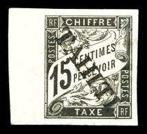 N°7, 15c Noir Surchargé TAHITI (tirage 100 Exemplaires), Bdf, SUP (signé Margues/certificat)  Qualité: *  Cote: 530 Euro - Tahiti (1882-1915)