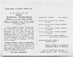 Elverdinge Zuidschote Martha Defrancq - Cuvelier 1969 - Oude Documenten