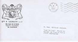 GIRONDE - Flamme Port Payé Muette Ondulée à Droite FLOIRAC Du 23 - 1  1990 - Marcophilie (Lettres)