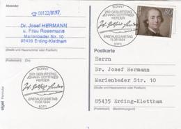 83894- JOHANN GOTTFRIED HERDER STAMP AND SPECIAL POSTMARK ON POSTCARD, OBLIT FDC, 1994, WEST GERMANY - Storia Postale