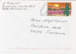83898- LUNEBURG HEATH STAMP ON COVER, KARLSRUHE SPECIAL POSTMARK, 1997, GERMANY - Storia Postale
