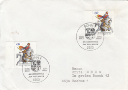 83903- JAN VON WERTH STAMPS AND SPECIAL POSTMARKS ON COVER, OBLIT FDC, 1991, WEST GERMANY - Storia Postale