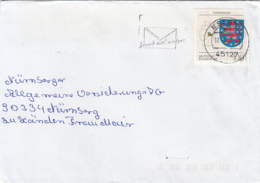 83909- THURINGIA COAT OF ARMS STAMP ON COVER, ESSEN, 1994, GERMANY - Storia Postale
