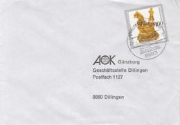 83915- MUNCHEN MUSEUM FIGURINE, STAMPS ON COVER, GUNDELFINGEN TOWN SPECIAL POSTMARK, 1993, GERMANY - Storia Postale
