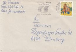 83918- PFORTA MONASTERY SCHOOL, STAMP ON COVER, NURNBERG SPECIAL POSTMARK, 1993, GERMANY - Storia Postale