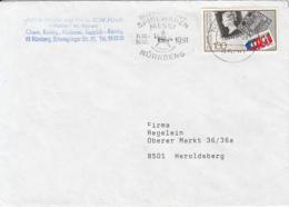 83920- STAMP'SANNIVERSARY STAMP ON COVER, NURNBERG TOYS FAIR SPECIAL POSTMARK, 1991, GERMANY - Storia Postale