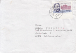 83925- PAUL WALLOT, STAMPS ON COVER, 1991, GERMANY - Storia Postale