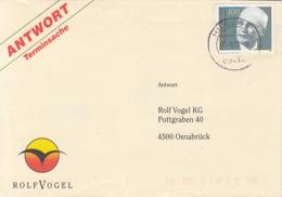 83928- ROLF VOGEL SPECIAL COVER, WALTER EUCKEN STAMP, 1991, GERMANY - Storia Postale