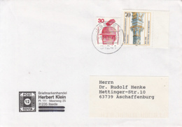 83931- ACCIDENTS PREVENTION, DOMINIKUS ZIMMERMANN, STAMPS ON COVER, 1995, GERMANY - Storia Postale
