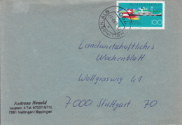 83935-LAKE CONSTANCE-BODENSEE EURO REGION, STAMPS ON COVER, 1993, GERMANY - Storia Postale