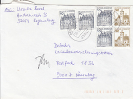 83936- CASTLES, STAMPS ON COVER, 1993, GERMANY - Storia Postale