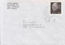 83937- KONRAD ADENAUER, STAMPS ON COVER, 1993, GERMANY - Storia Postale