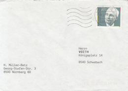 83940- WALTER EUCKEN, STAMPS ON COVER, 1991, GERMANY - [7] Repubblica Federale