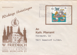 83968-W. FRIEDRICH BUILDING SPECIAL COVER, DISCOVERY OF AMERICA STAMP, 1992, GERMANY - [7] Repubblica Federale