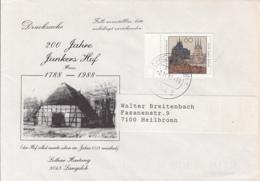 83969- JUNKERS INN SPECIAL COVER, ERFURT TOWN STAMP, 1992, GERMANY - Storia Postale