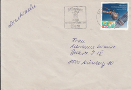 83983- EUROPA CEPT, SATELLITE STAMP ON COVER, MUNCHEN BEER CITY SPECIAL POSTMARK, 1992, WEST GERMANY - [7] Repubblica Federale