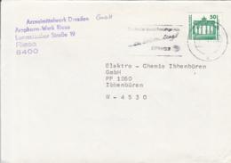 83986- BERLIN BRANDENBURG DOOR STAMP ON COVER, RIESA SPECIAL POSTMARK, 1991, GERMANY - [7] Repubblica Federale