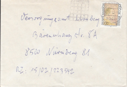 83987- OTTO DIX STAMP ON COVER, ERLANGEN SPECIAL POSTMARK, 1992, GERMANY - [7] Repubblica Federale