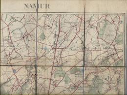 -Carte (plan)militaire Septembre 1911 Sous Toile- NAMUR.de Meux -Maillen , Courrière,jusqu'à Lesves Et Tiller Franc Wa, - Europa