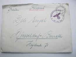 1940 , SIGMONTSHERBERG - KREMS , Bahnpost , Klarer Stempel Auf Feldpostbrief - Briefe U. Dokumente