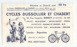 BUVARD VELOS CYCLES VELOMOTEURS DUSSOLLIER CHABERT ANNECY HAUTE SAVOIE TBE - Moto & Vélo