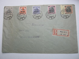 1919 , POSEN , Einschreiben Nach Winiary - ....-1919 Übergangsregierung
