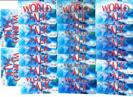 23 Cartes Prépayées WORLD TALK €7.50 Différentes - Frankrijk