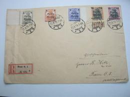 1919 , POSEN , Einschreiben Mit Ankunftstempel - ....-1919 Übergangsregierung