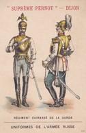 Vers 1900 Biscuits Pernot ,usines Dijon ,régiment Cuirassé De La Garde ,uniformes De L'armée Russe - Russia