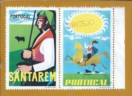 Vinhetas De Santarém. Ribatejo. Cavalo. Touro. Campino. Leziria. Vignettes Of Santarém. Horse. Bull. Pferd. Stier - Emissions Locales