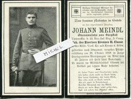 Ardennes. GOMONT.ASFELD.1918. Sterbebild Avis Décès Soldat Allemand - 1914-18