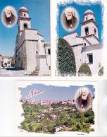 """Italia 2002: 5 Cartoline """"Pro Civitate Nusci"""" Con Fb Di 0.41 """"Padre Pio Santo"""" (Sassone 2631) Con O NUSCO (AV) 16.6.2002 - Teologi"""