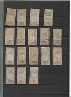 FISCAUX Série Complète 295/311 -B/TB - Forte Cote - Revenue Stamps