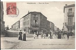 CHAZELLES. PLACE DES PORTES - France