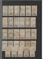 FISCAUX Série Dentelée 29 Val. -B/TB - Forte Cote - Revenue Stamps