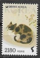 SOUTH KOREA, 2019, MNH, DEFINTIVE STAMP, CATS, 1v - Katten
