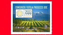 Nuovo - MNH - ITALIA - 2019 - 10 Anni Del Riconoscimento Del Prosecco DOC – Vino – Logo - B - 1946-.. République