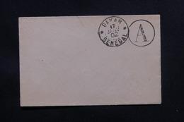 SÉNÉGAL - Oblitération De Dakar + Cachet A En 1902 Sur Petite Enveloppe Non Voyagé - L 48719 - Sénégal (1887-1944)