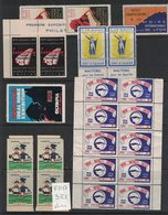 France - 60 Vignettes Diverses (Foires Diverses, Air Pur, Etc..) - Werbung