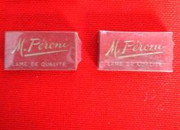 Lot De 2 étuis De 5 Lames Neuves M.PERONI Qualité Supérieure Fabrication Française TBE (N°2) - Lamette Da Barba