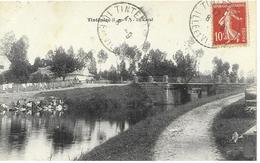 35       Tinteniac Le Canal Et Ses Lavendiere  Cheval  Brouette  Animée - Frankreich