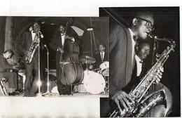 C3231/ 2 X Foto Jazz-Band  Saxophon  Ca.1955 Pressefoto - Oude Documenten