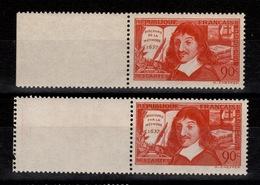 YV 341 & 342 N** Les 2 Descartes Cote 16 Euros - France