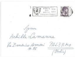 LETTERA - ANNO  1964 - ANNULLO A TARGHETTA , FORTE DEI MARMI CINQUANTENARIO  - MARCOFILIA - 1961-70: Storia Postale