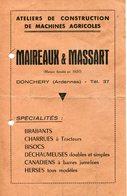 Ardennes. DONCHERY. Machines Agricoles MAIREAUX-MASSART - Vieux Papiers