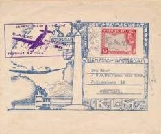 Curacao - 1946 - 45 Cent Luchtpost 1e Vlucht Van KB BONAIRE Naar Soestdijk / Nederland - Niederländische Antillen, Curaçao, Aruba
