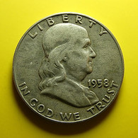 USA 1/2 Dollar 1958 D Silver - Émissions Fédérales