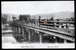 CPA ANCIENNE JAPON- KYOTO- SANJI BRIDGE- TRES GROS PLAN AVEC ANIMATION- - Kyoto
