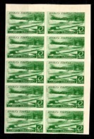 Espagne YT N° 625C (non-émis) En Bloc De Dix Timbres Non Dentelés Neufs ** MNH. TB. A Saisir! - 1931-50 Neufs